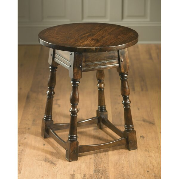 Ussery Round End Table by August Grove