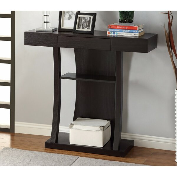 Review Voth T-Shaped Console Table