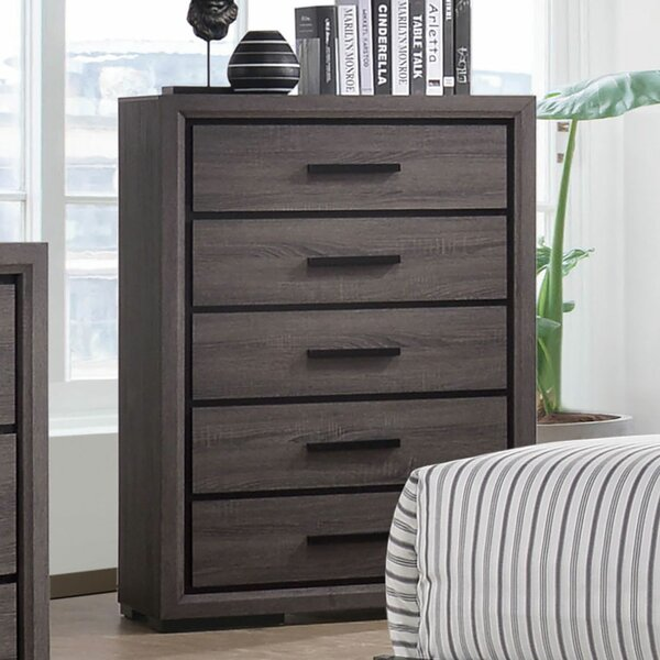 Saville Wooden 5 Drawer Chest by Foundry Select
