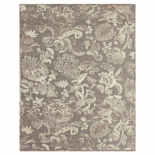 Gray / Brown Area Rug by The Conestoga Trading Co.