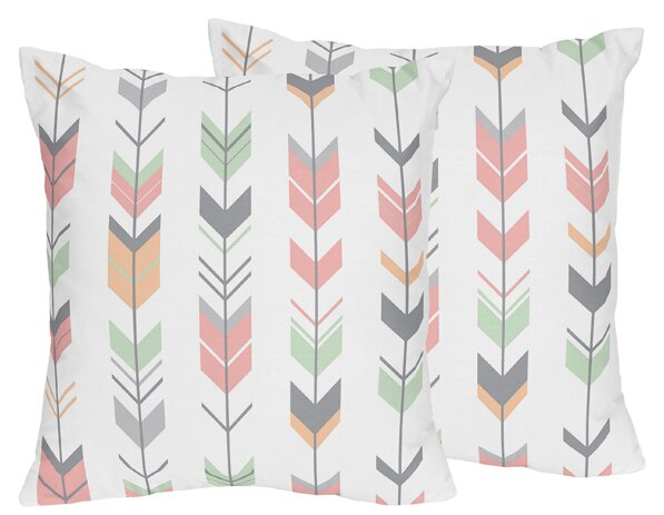 Mod Arrow Throw Pillow (Set of 2) by Sweet Jojo Designs