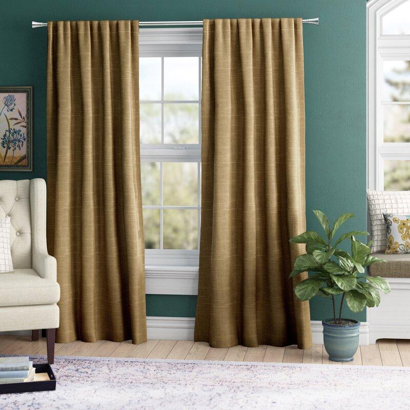 Solid Room Darkening Rod Pocket Curtain