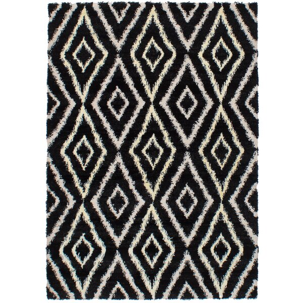 Osteen Black/Cream Area Rug by Bungalow Rose