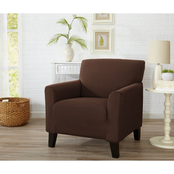 Dawson Box Cushion Armchair Slipcover by Home Fashion Designs