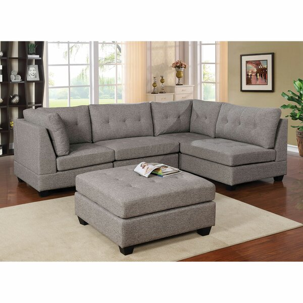 House Reversible Modular Sectional with Ottoman by Red Barrel Studio