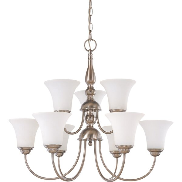 Engebretson 9-Light Shaded Tiered Chandelier by Charlton Home Charlton Home