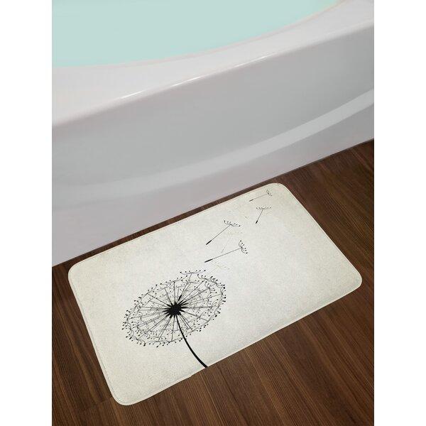 Dandelion Bath Rug by East Urban Home