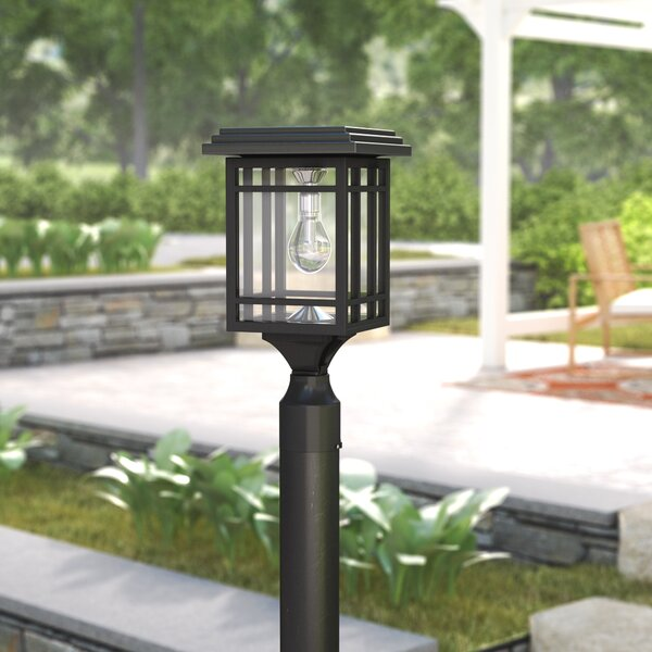 Dallon Prairie Bulb Solar 1-Light 14 Post Light by Charlton Home