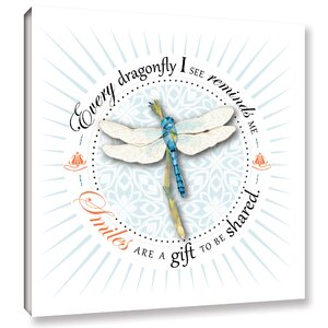 Dragonfly Smile Wall Art on Wrapped Canvas by Latitude Run