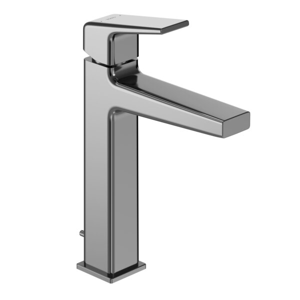 Single Handle Hole Semi-Vessel Bathroom Faucet With Drain Assembly And Comfort Glide Technology By Toto