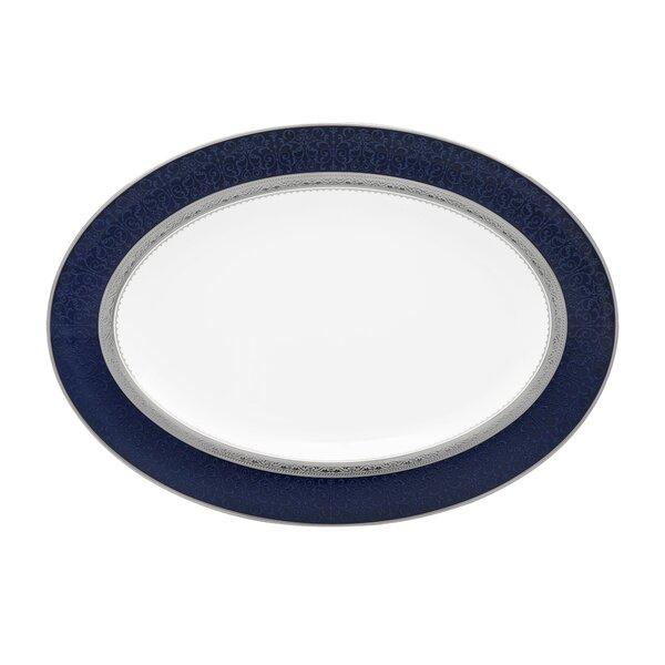 Odessa Cobalt Oval Bone China Platter by Noritake