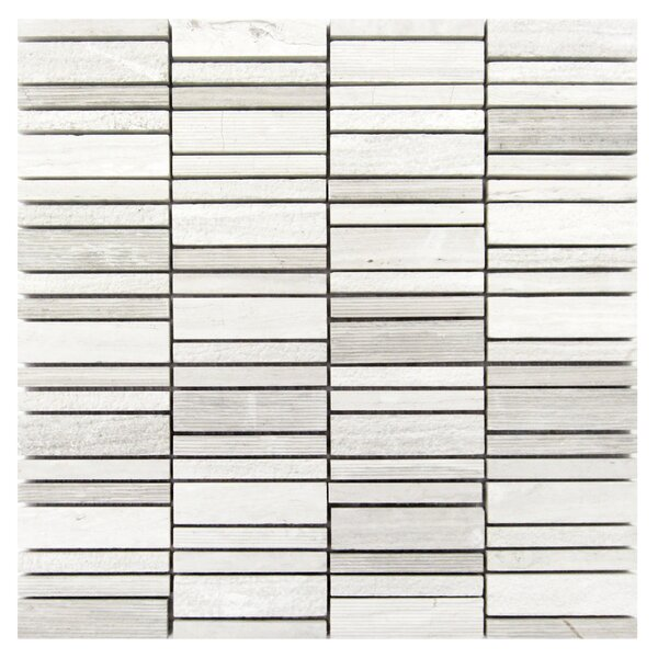 1 x 2 Wood Mosaic Tile in Gray by Luxsurface