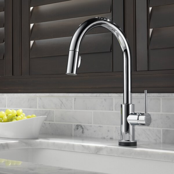 Trinsic Pull Down Touch Single Handle Kitchen Faucet with MagnaTite® Docking and Touch2O® Technology and Diamond Seal Technology by Delta