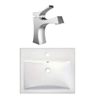 Compare Semi-Recessed Rectangular Vessel Bathroom Sink with Faucet ByRoyal Purple Bath Kitchen
