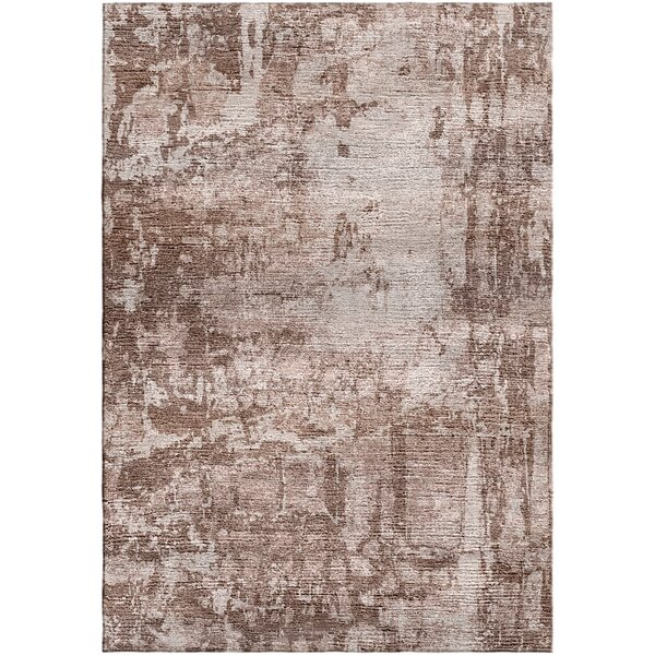 Ashford Handloom Coffee/Beige Area Rug by Ivy Bronx