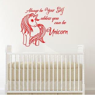 Unicorn Nursery Bedroom Wall Decal By Decal House