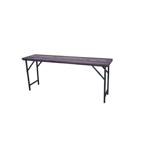 Shantel Folding Wooden Side Table by Loon Peak