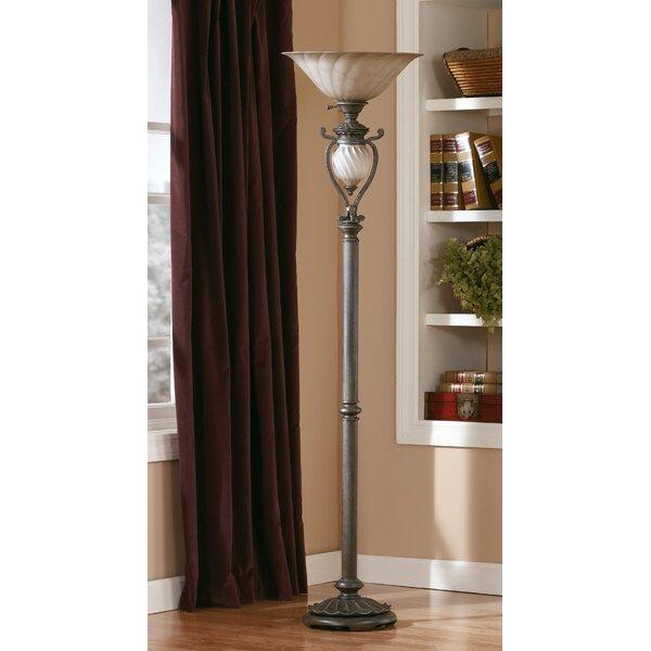 Courson 73 Torchiere Floor Lamp by Fleur De Lis Living