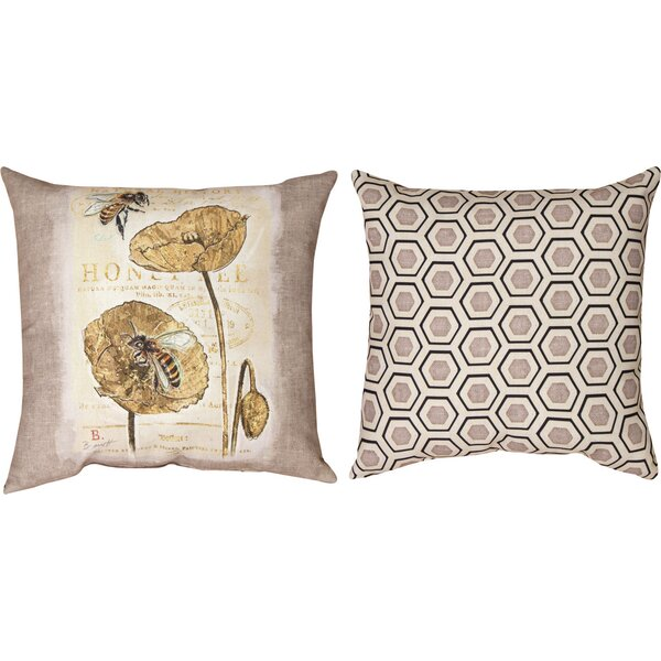 Natural Life Bee Honey Bee Throw Pillow by Manual Woodworkers & Weavers