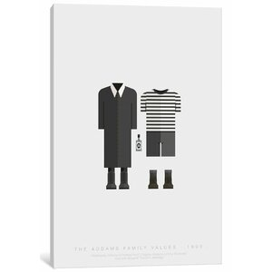 'Famous Hollywood Costumes Series: The Addams Family' Graphic Art Print on Canvas by East Urban Home