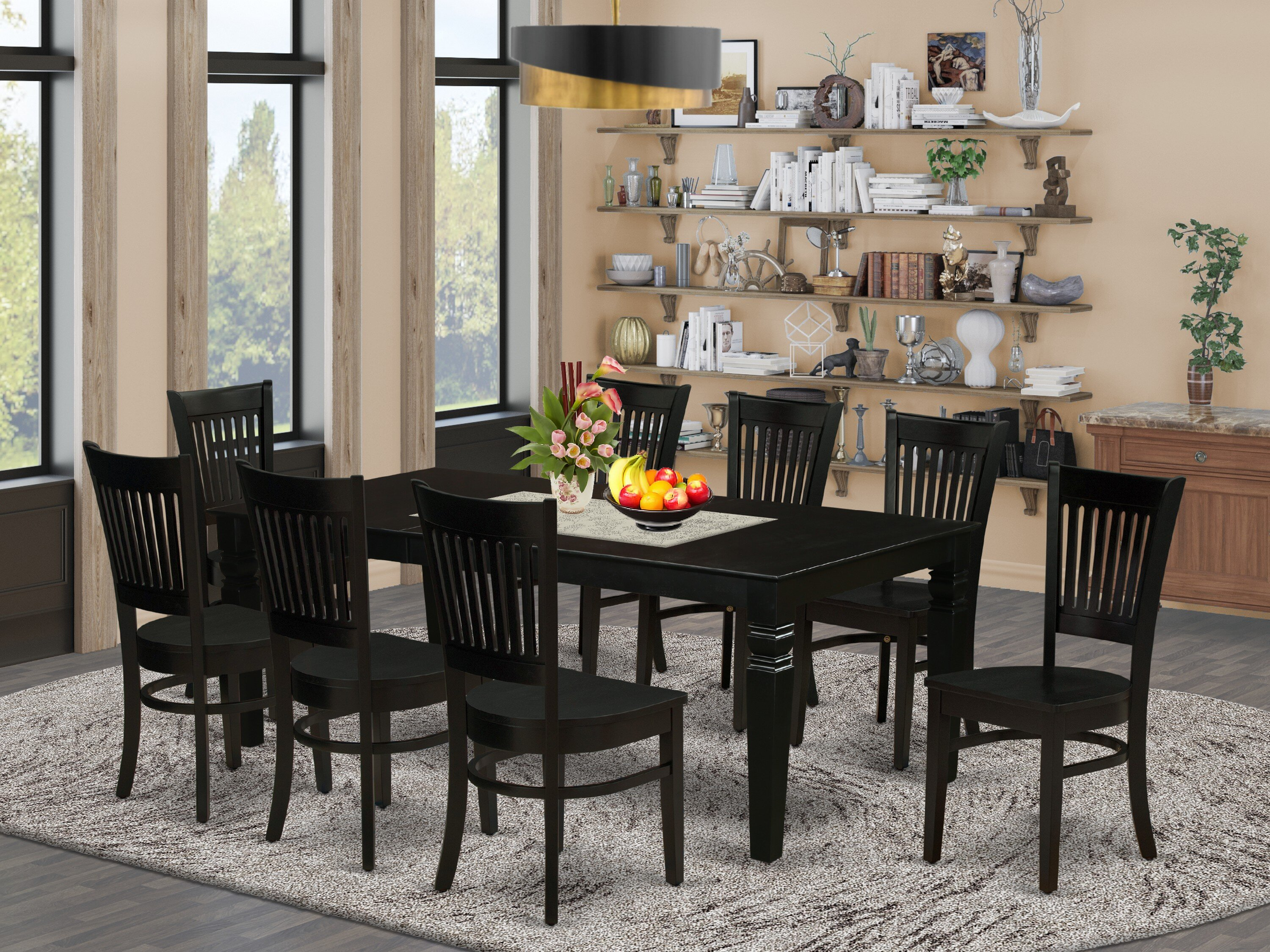 Montsegur Butterfly Leaf Rubberwood Solid Wood Dining Set