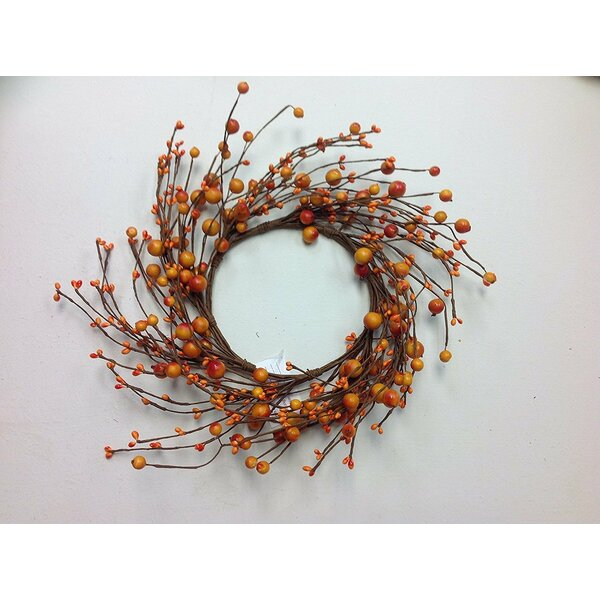 Mixed Berry Candle Ring Decorative Fall Mini Wreath by The Holiday Aisle