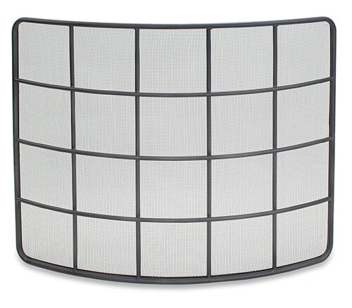 Woodland Bowed Single Panel Iron Fireplace Screen By Pilgrim Hearth