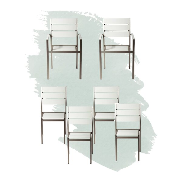 Kiera Stacking Patio Dining Chair (Set of 6) by Foundstone