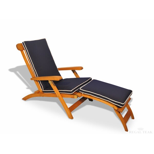 Streamer Outdoor Teak Lounger by Regal Teak