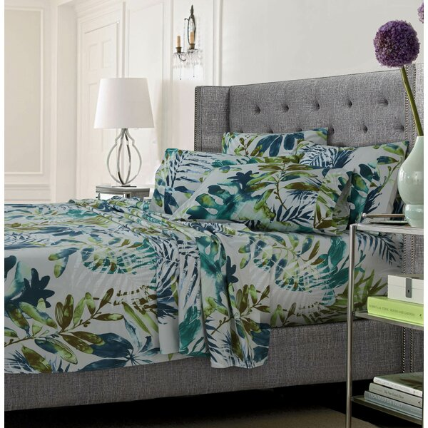 Wildwood Ultra-Soft Solid or Printed Extra Deep Pocket Sheet Set by Bay Isle Home