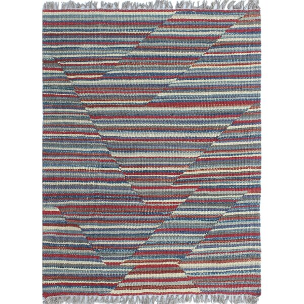 Troy Traditional Kilim Hand Woven Wool Red Area Rug by Bloomsbury Market
