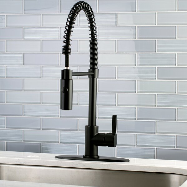 Continental Pull Down Single Handle Kitchen Faucet by Kingston Brass