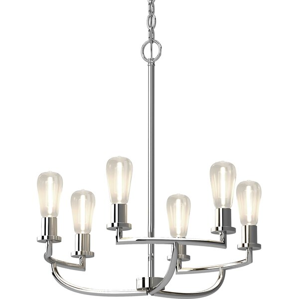 Singh 6 - Light Candle Style Classic / Traditional Chandelier By Breakwater Bay