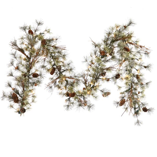 Dakota Artificial Christmas Garland with 50 Clear Light by Darby Home Co