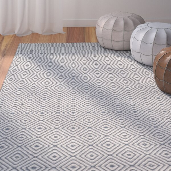 Davida Dark Gray/Ivory Area Rug by Bungalow Rose