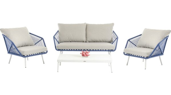 Brody 4 Piece Sofa Set with Cushions by Bungalow Rose