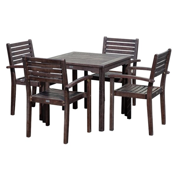 Giesler Eucalyptus Square 5 Piece Dining Set by August Grove
