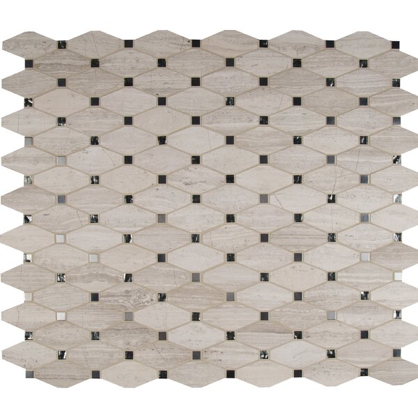 Bayview Elongated Octagon Glass/Stone/Metal Mosaic Tile in Gray by MSI