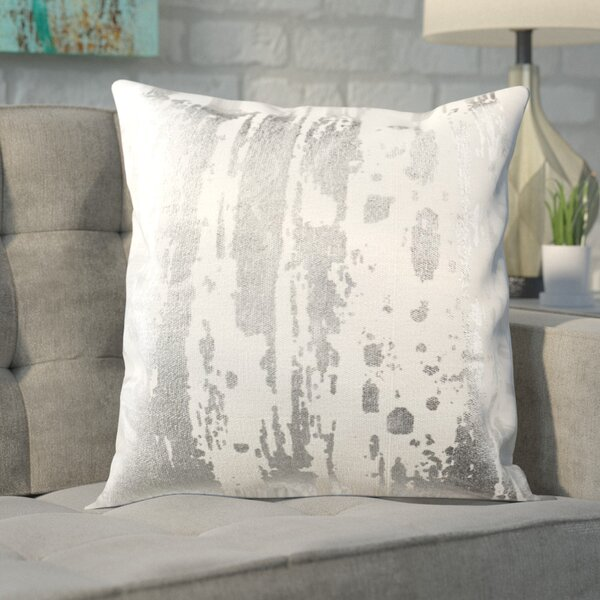Jones Street Metallic Splatter Throw Pillow by Brayden Studio