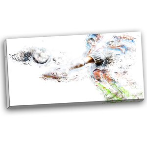 Soccer Defense Graphic Art on Wrapped Canvas by Design Art
