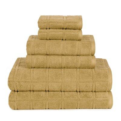 Boehm 100% Cotton Manor Jackson 6 Piece Bath Towel Set Breakwater Bay Color: Lark