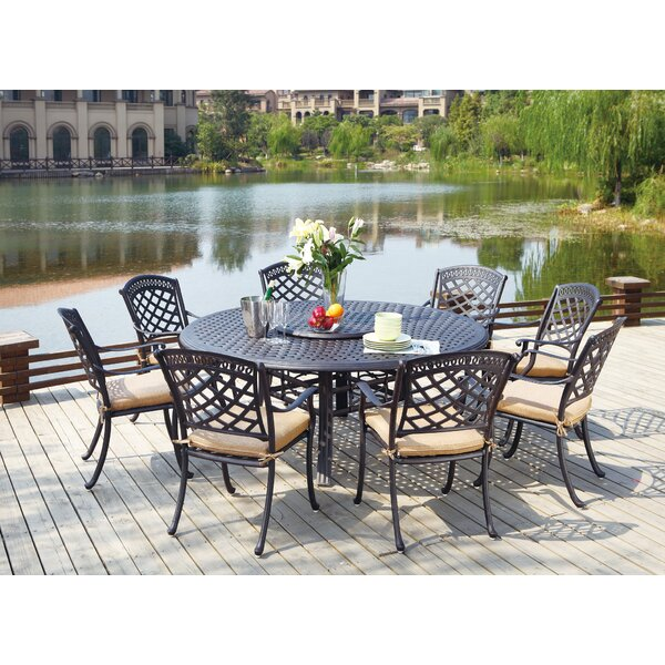 Thompson 10 Piece Dining Set with Cushions by Alcott Hill