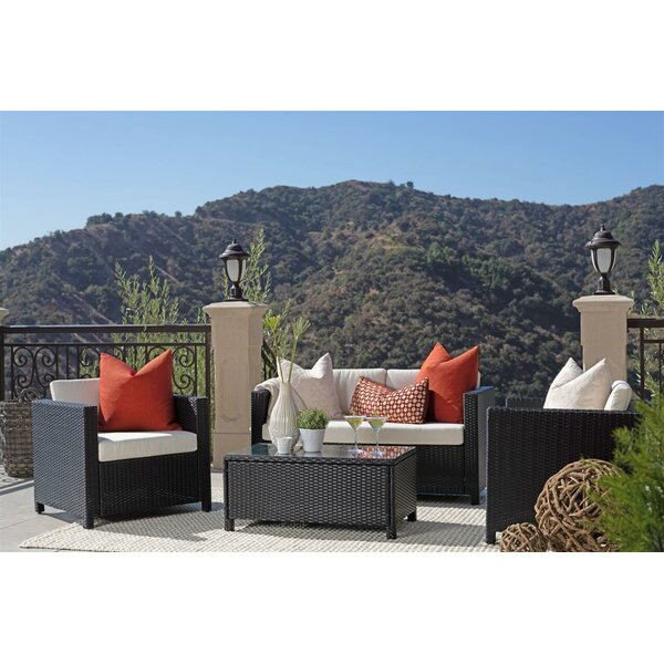 Forelli 4 Piece Sofa Seating Group with Cushions by Brayden Studio