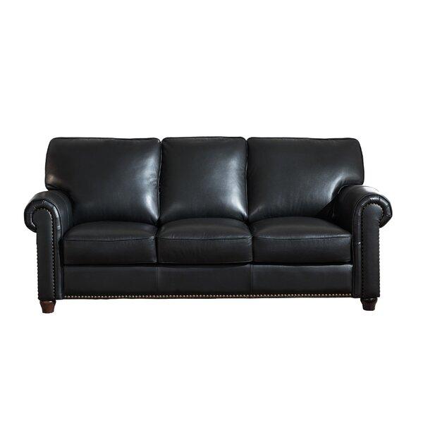 Tawanda Craft Leather Sofa by Three Posts
