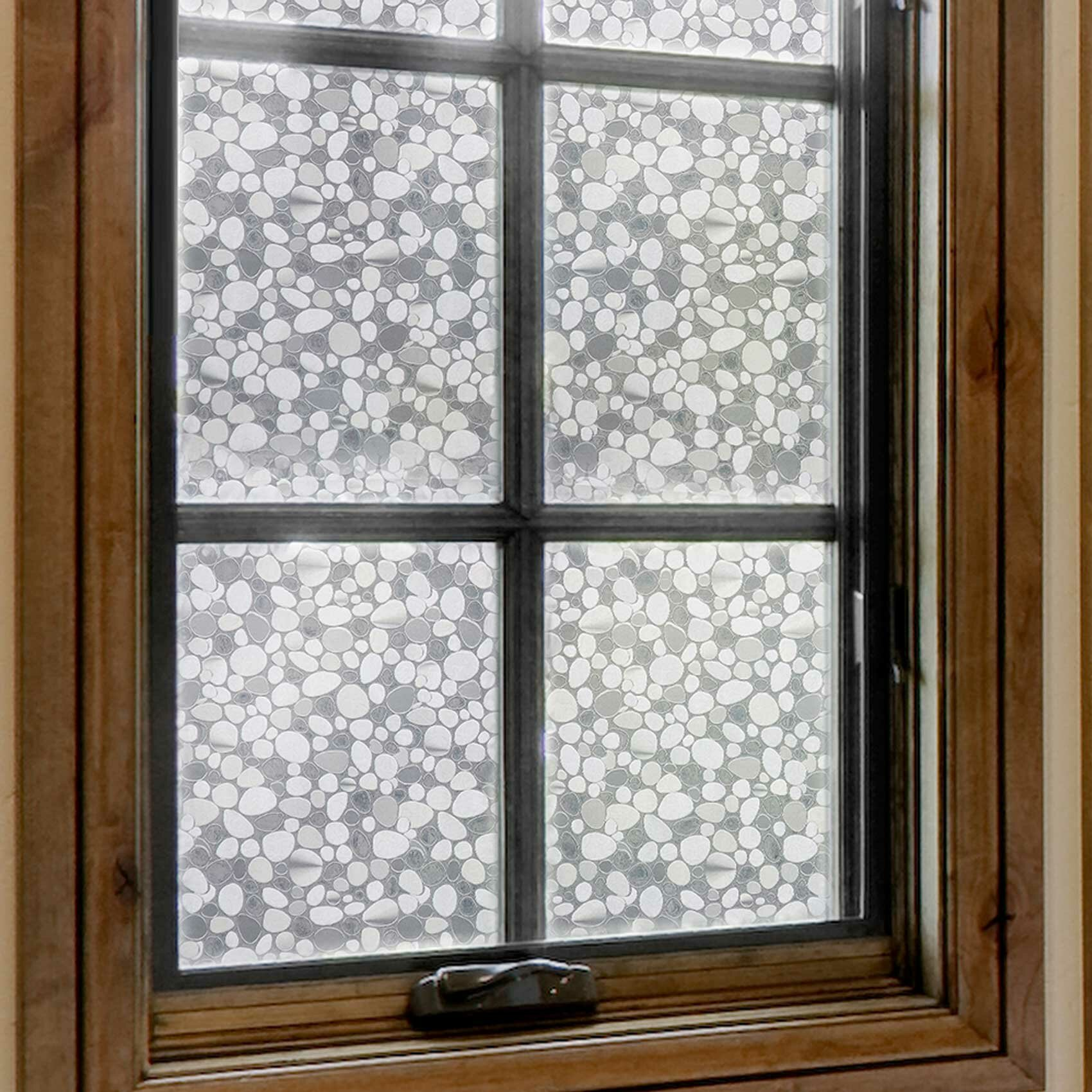 decorative film for bathroom windows orren ellis pebble decorative film privacy window decal wayfair  orren ellis pebble decorative film