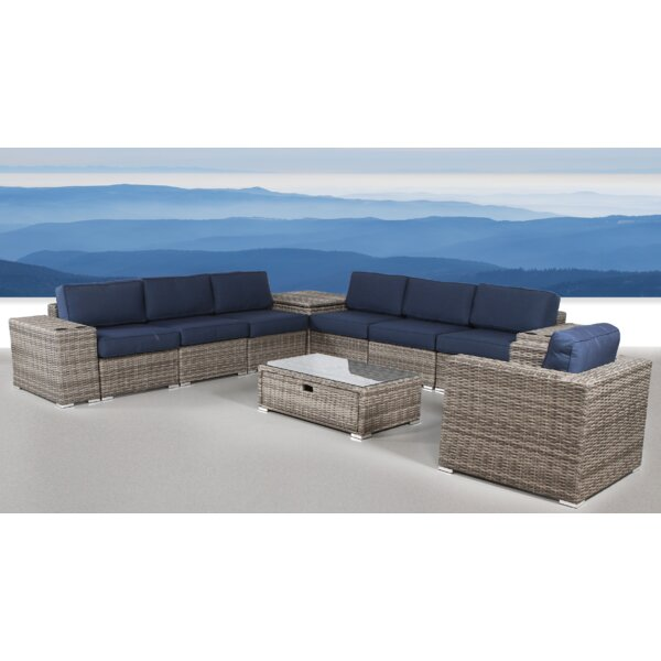 Leamon 11 Piece Sectional Seating Group with Sunbrella Cushions by Sol 72 Outdoor