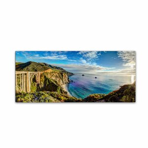 Big Sur - Bixby Bridge - California-I by David Ayash Photographic Print on Wrapped Canvas by Trademark Fine Art