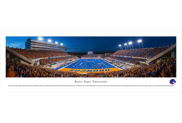 NCAA Boise State University - End Zone by Christopher Gjevre Photographic Print by Blakeway Worldwide Panoramas, Inc
