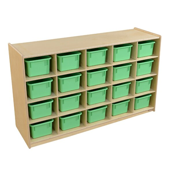 20 Compartment Cubby with Trays by Wood Designs