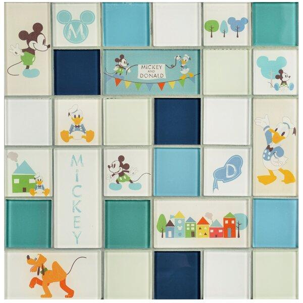 Disney Classic Glass Mosaic Tile in Aqua by EliteTile